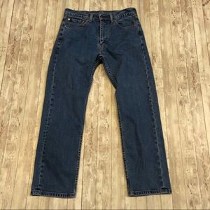 Levi's 505 medium wash straight leg jeans